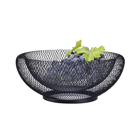 LeKing Wrought Iron Fruit Basket Double Layer Nordic Style Innovative Modern Dried Fruit Candy Storage Plate for Living Room Home - image 5 of 6