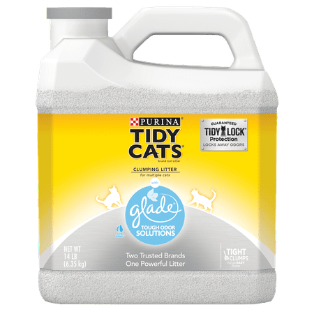 Purina Tidy Cats Clumping Cat Litter, Glade Clear Springs Multi Cat Litter - 14 lb. (Best Clumping Cat Litter For Multiple Cats)