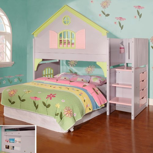 Discovery World Dollhouse  Loft Twin Bunk Bed