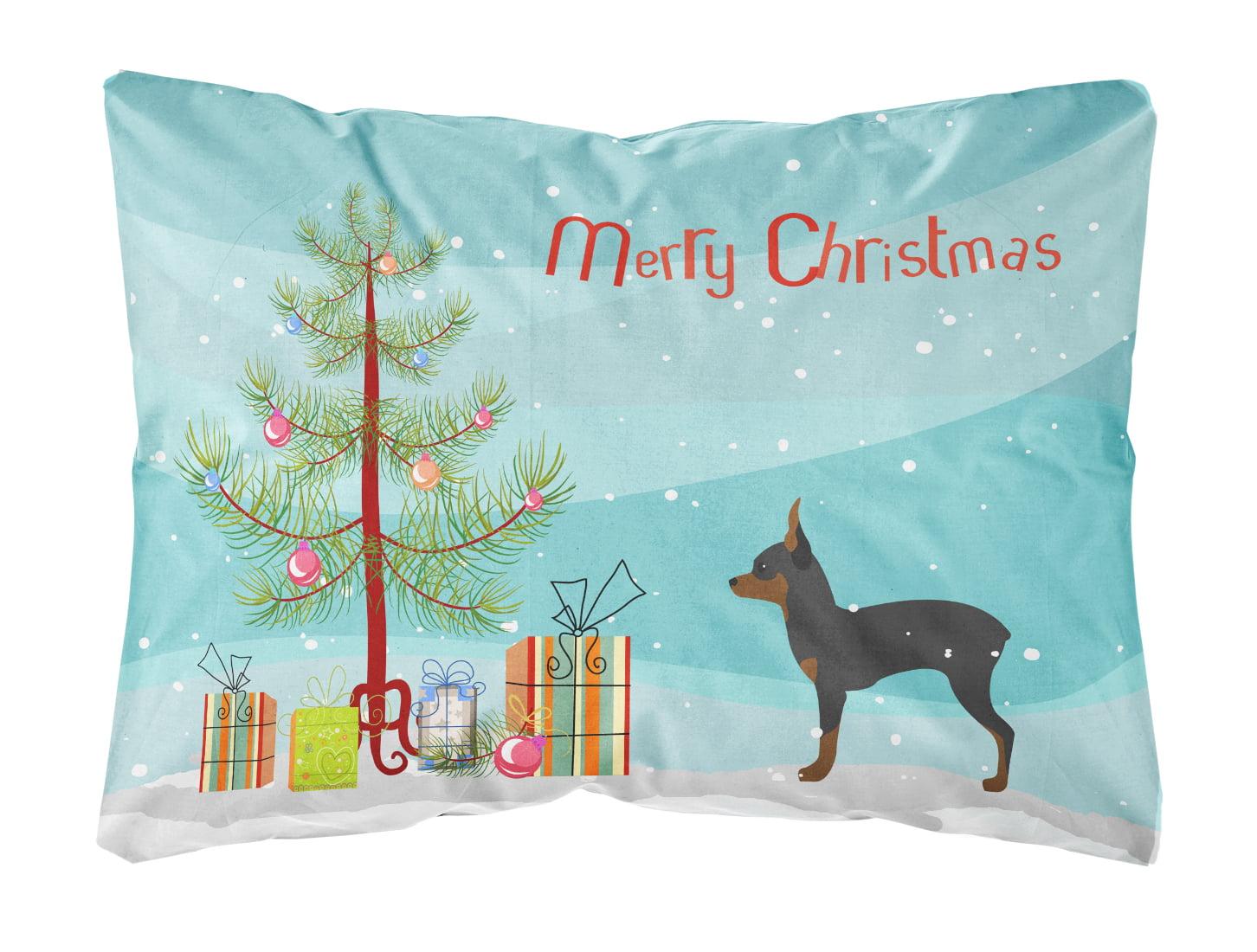 Toy Fox Terrier Merry Christmas Tree Canvas Fabric Decorative Pillow Walmart Com Walmart Com