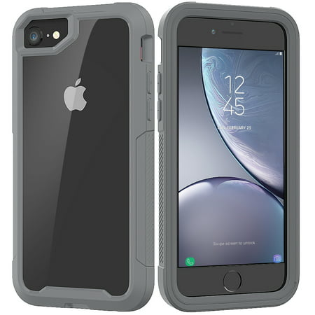 iPhone 6S Case, iPhone 6 Case, Allytech Hybrid Clear PC Silicone Shockproof Heavy Duty Protection Anti-Scratch Defender Bumper Rubber Boy Women Case Cover for Apple iPhone 6S / iPhone 6,Gray ()