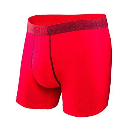 5d4b6ac25 Saxx Underwear - SAXX UNDERWEAR Men s Platinum Boxer Fly Red Boxer Briefs  2XL - Walmart.com