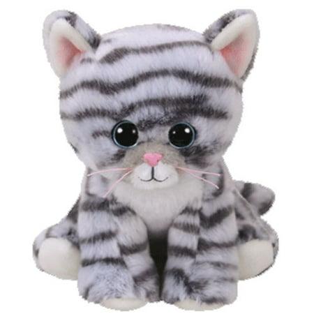 Gray Tabby Cats - TY Beanie Baby - MILLIE the Grey Tabby Cat (6 inch)