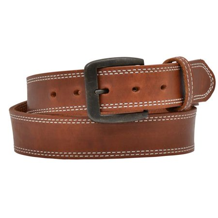 3d belt mens western leather barbed tooled heavyweight tan 1137