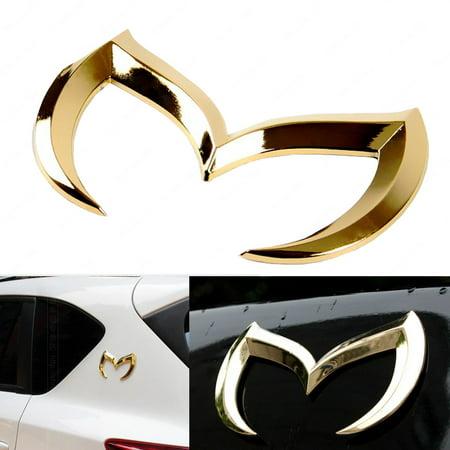- Xotic Tech Evil M Emblem Logo Badge Decal for Mazda3 6 Mazdaspeed CX 3 5 MX-5 Miata[Gold]