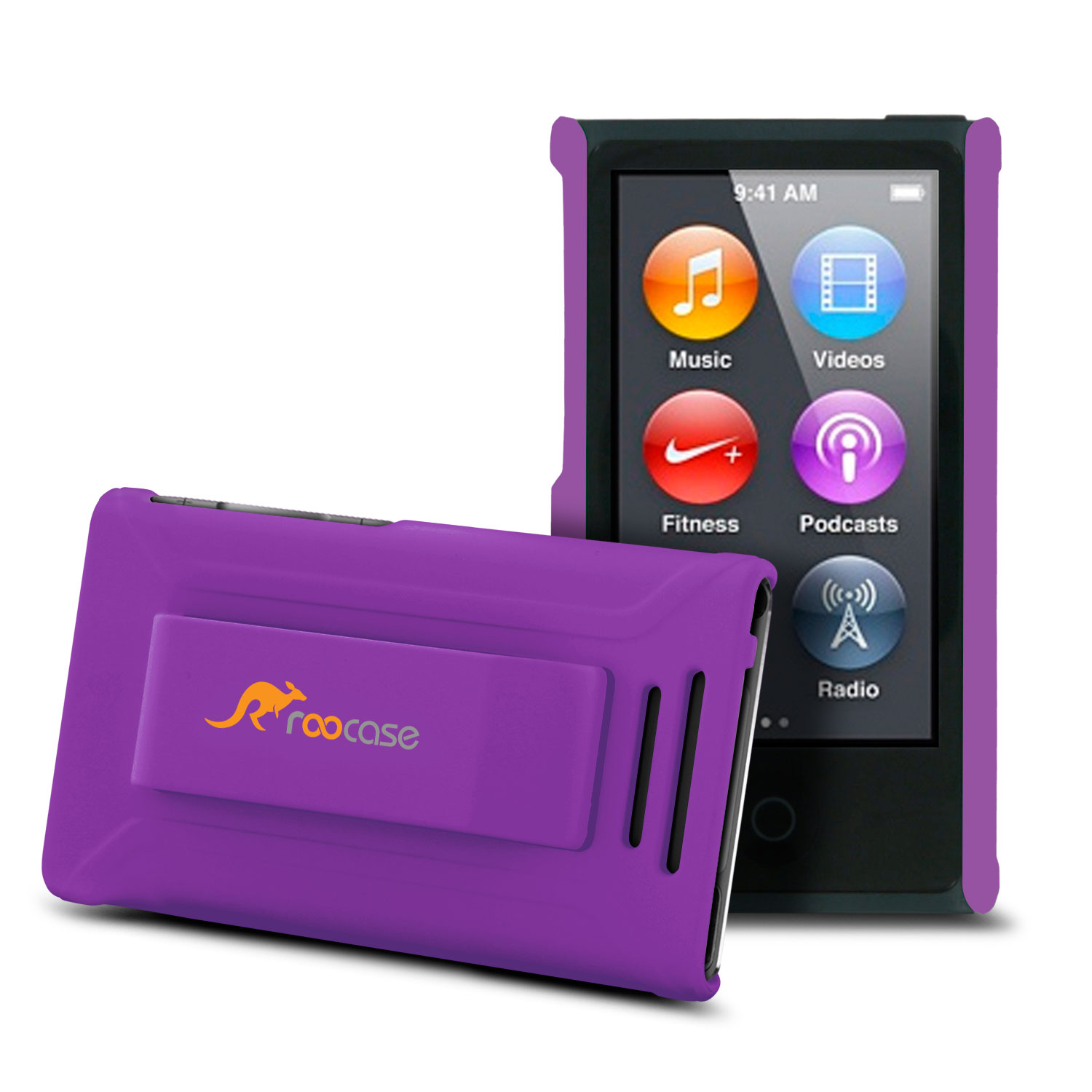 iPod Nano 7 Case - roocase Ultra Slim Fit (Purple) Shell Case Cover for Apple iPod Nano 7 (7th Generation)