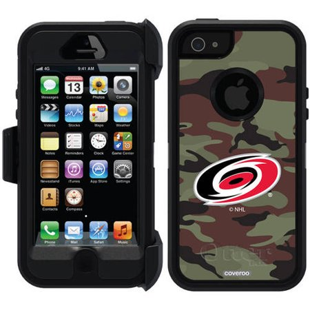 Carolina Hurricanes Traditional Camo Design on OtterBox Defender Series Case for Apple iPhone 5 5s by