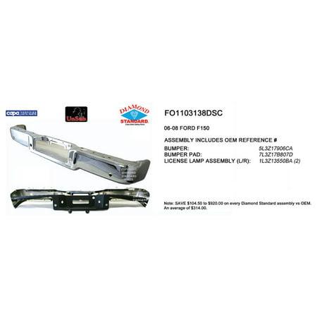 FO1103138DSC Diamond Standard Rear Step Bumper Assembly for 2006-2008 Ford F-150