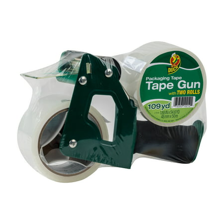 Duck® Brand Foam Handle Tape Gun - Clear, 1.88 in. x 54.6 yd., 2-Pack