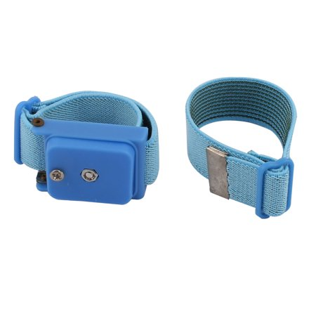 Cordless Anti Static Grounding Discharge Wrist Strap Cable Bracelet Blue 2pcs