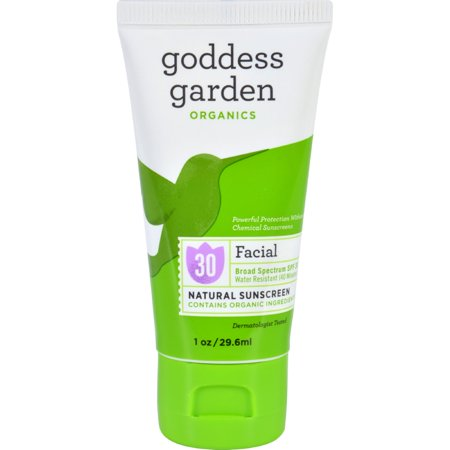 Goddess Garden Facial SPF 30 Natural Sunscreen, Lotion, 1 Ounce 1 Ounce Skin Mat