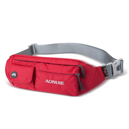 Marathon Fanny Pack - Fashion Waterproof Waist Bag Adjustable Fanny Pack for Running Marathon Cycling Outdoor Sports Color:Red