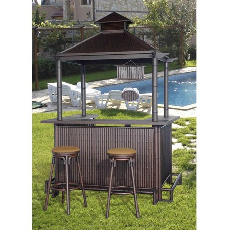Sunjoy 110214003 Tiki 74 4 X 56 1 107 Aluminum Bar Set