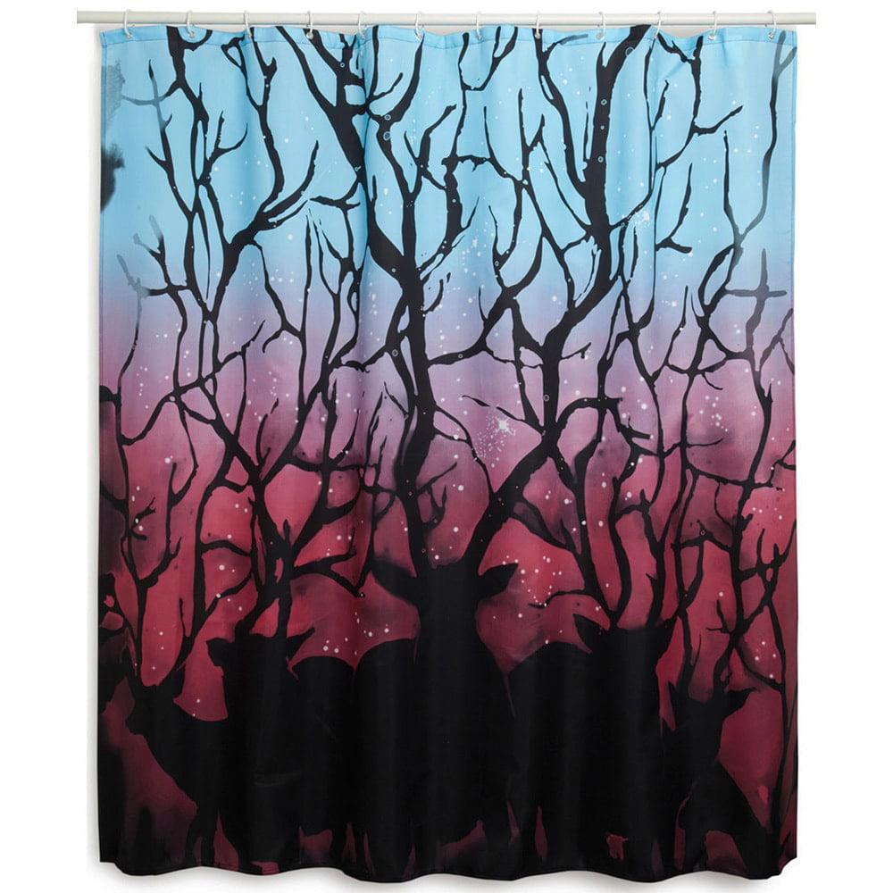 Sharp Shirter Colorful Deer Forest Shower Curtain