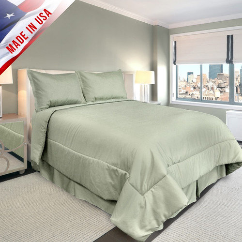 Veratex Supreme Sateen 500-Thread-Count Solid Bedding Comforter Set