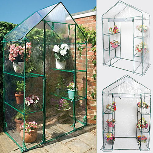 Costway Portable Mini Walk In Outdoor 3 Tier 6 Shelves Greenhouse by Costway