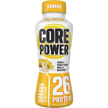 Core Poweru00ae Banana High Protein Milk Shake 11.5 fl. oz. Bottle
