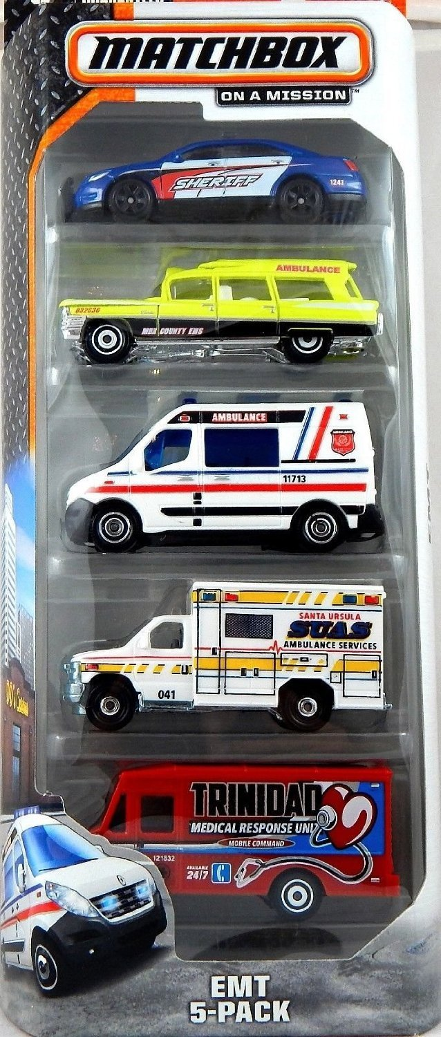 , On a Mission 2015 Series, EMT 5-Pack, Includes: 5 1:64 scaled die-cast vehicles. By... by
