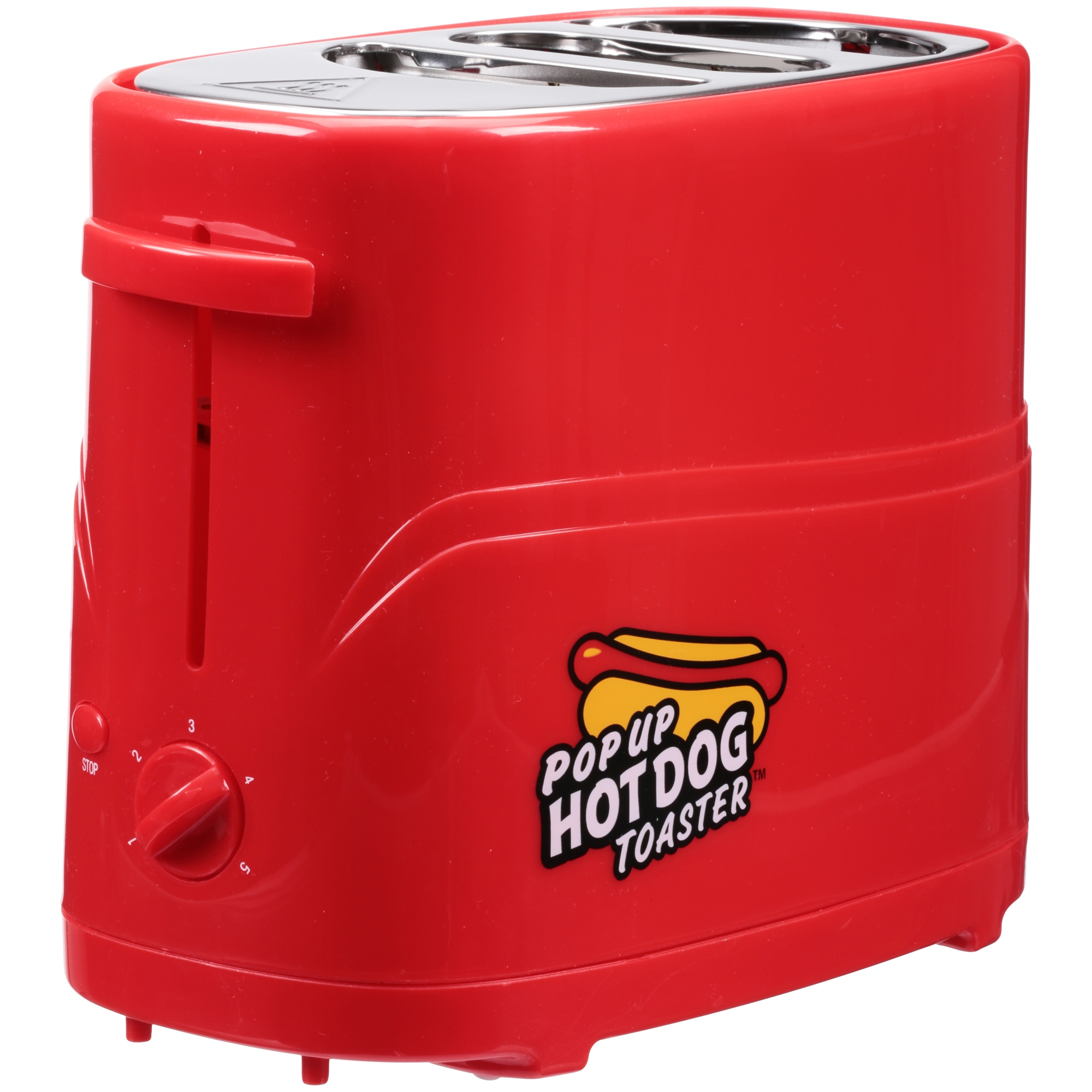 Nostalgia HDT200RED2PK Pop-Up Hot Dog Toaster, Red