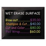 MasterVision Kamashi Wet-Erase Board, 48 x 36, Black Frame -BVCMM14151620