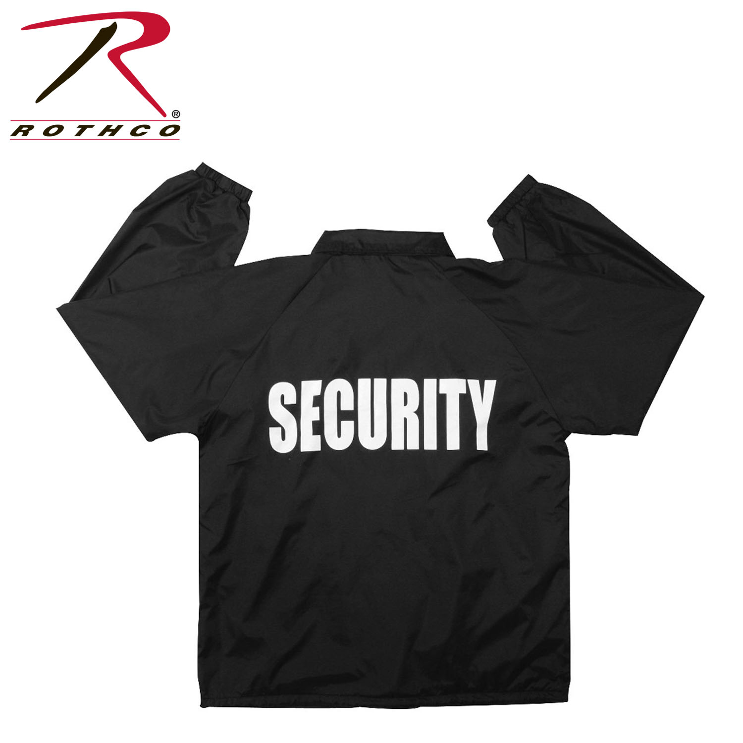 Rothco Lined Coaches Jacket / Security - Black, 3X-Large