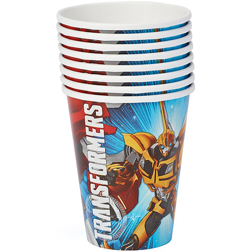 Transformers 9 oz. Paper Party Cups, 8 Count, Party Supplies