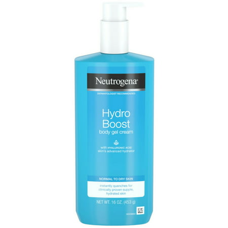 3 Pack - Neutrogena Hydro Boost Hydrating Body Gel Cream with Hyaluronic Acid, Non-Greasy and Fast Absorbing Cream for N