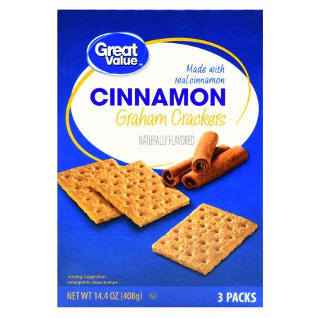 Great Value Graham Crackers, Cinnamon, 3 Count, 14.4 oz - Clackers For Sale