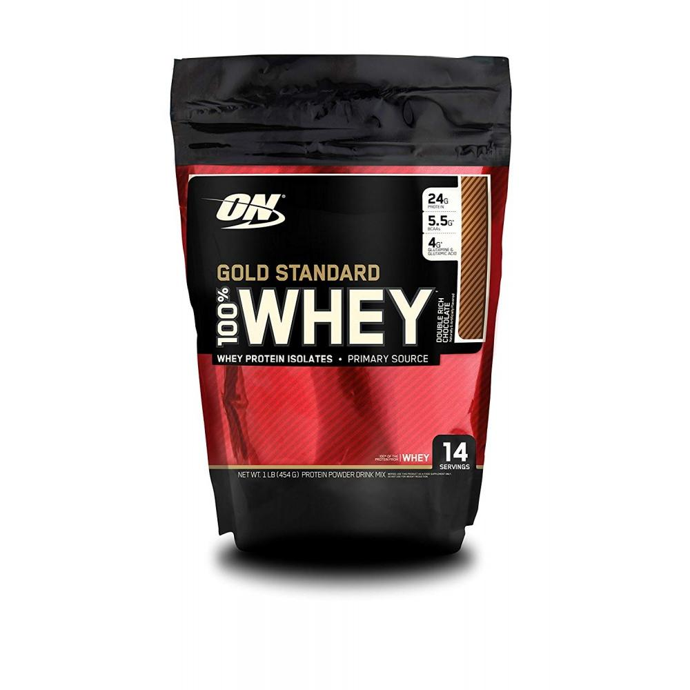 Optimum Nutrition Gold Standard 100% Whey Protein Powder, Double Rich  Chocolate, 24g Protein