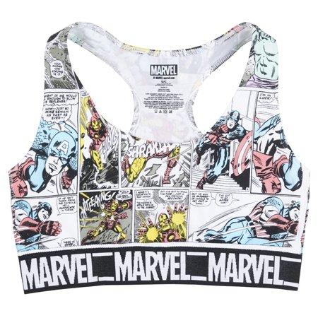 0ea61e4d7a249 MARVEL - The Avengers Sports Bra Juniors - Walmart.com