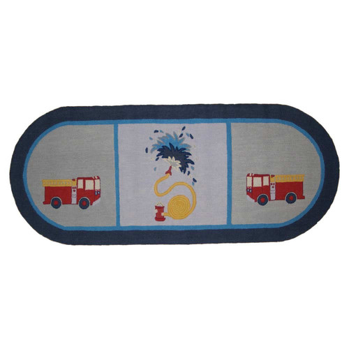 Patch Magic Fire Truck Runner Area Rug