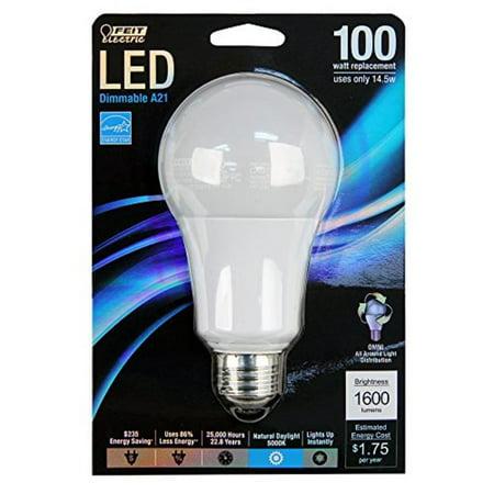 BULB LIGHT LED 100W A19 5000K - Walmart.com