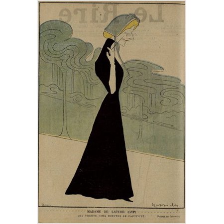 Vintage Ad Poster Cappiello Le Rire With Madam De Latude 1900 24X36 ()