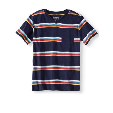 Stripe Pocket Tee (Smith's American Short Sleeve Stripe Pocket Tee Shirt (Big Boys))