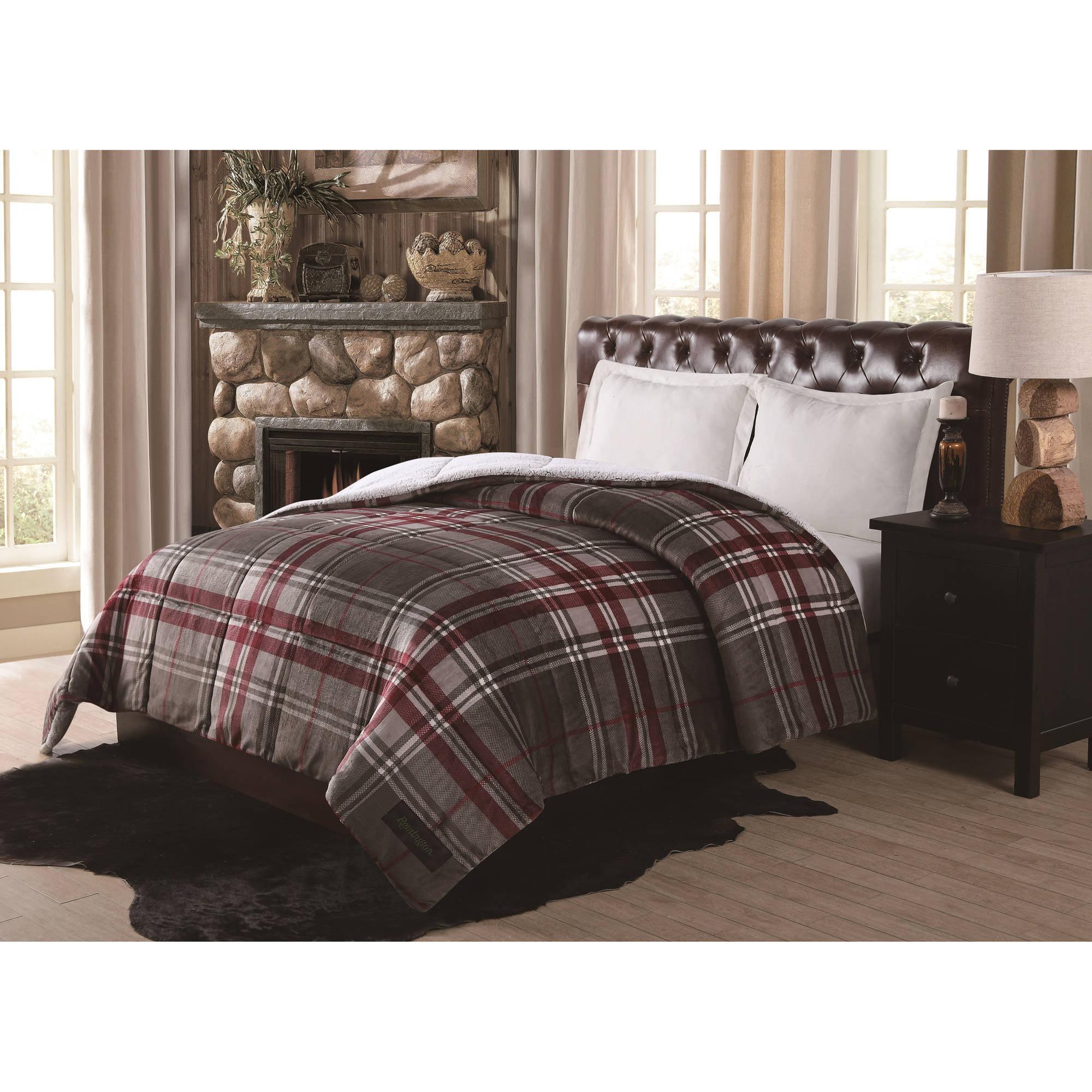 Remington Supreme Velvet Green Plaid Comforter Walmart Com Walmart Com