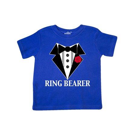 Tuxedo Ring Bearer Toddler T-Shirt - Ring Bearer Shirts For Toddlers