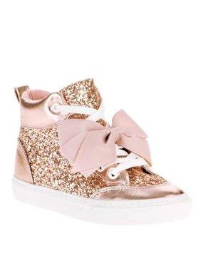 Product Image Jojo Siwa Girls  Rose Gold Crushed Glitter High Top 215a7dc62c1