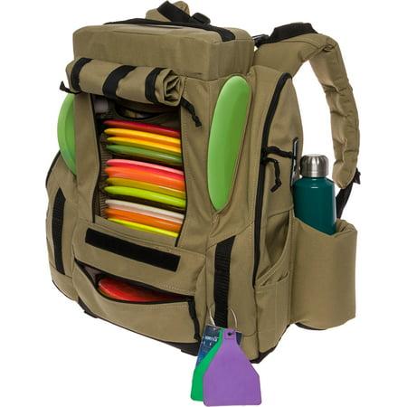 Fusion Ice - Baglane Fusion Elite Disc Golf Backpack w/Seat & Cooler- 25+ Capacity (Coyote Tan)