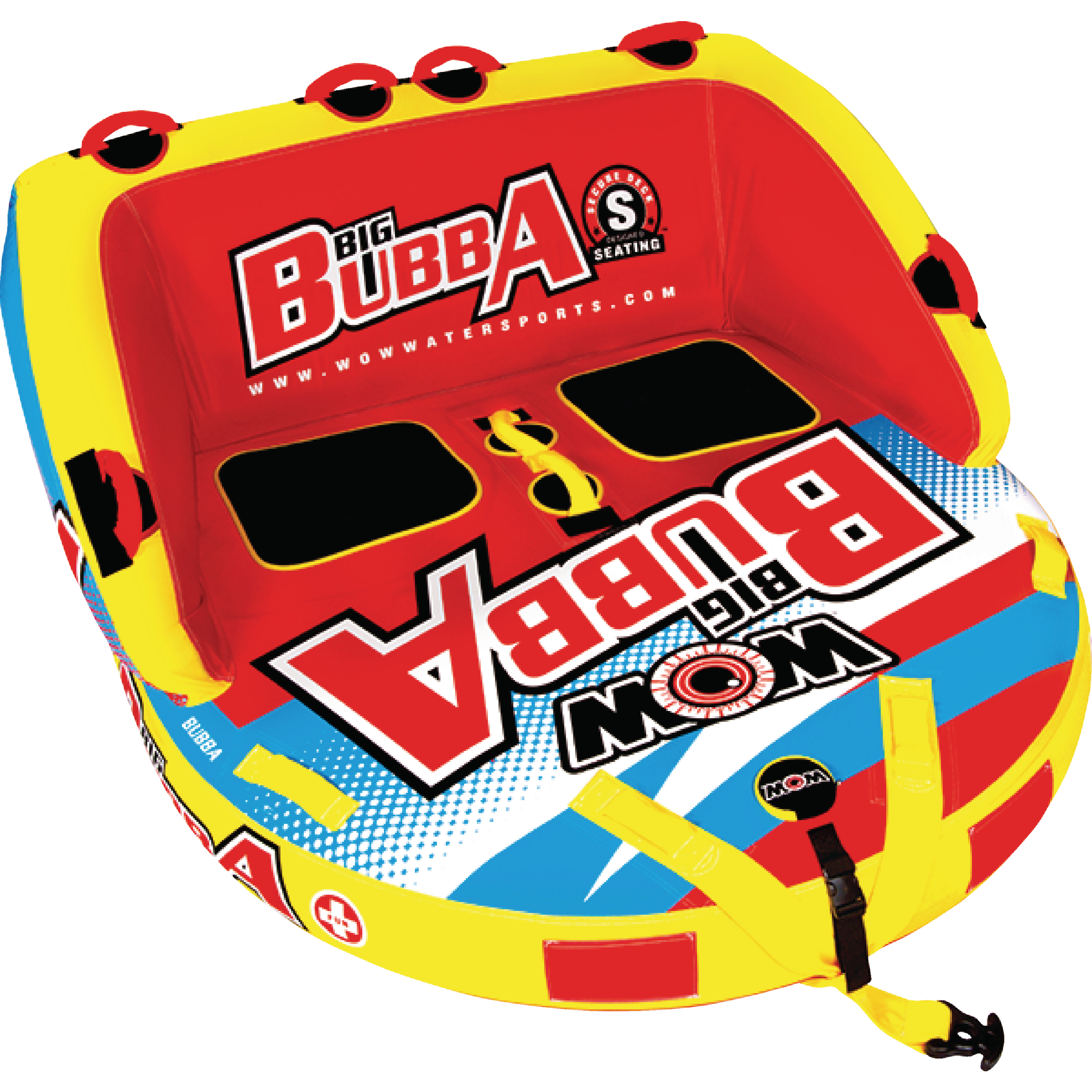 WOW 171050 Big Bubba Hi-Vis Inflatable Towable for 1-2 Riders by WOW Watersports USA