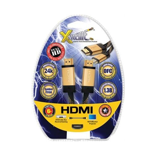 Xtreme Cable 3' HDMI to HDMI Super High Performance 1.3 Cable