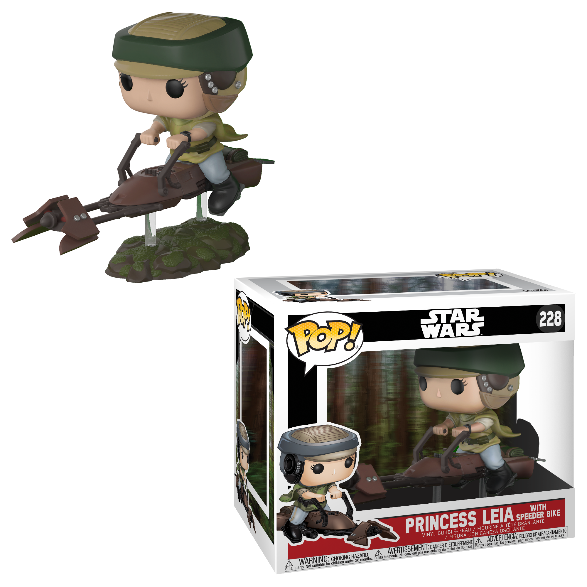 FUNKO POP! DELUXE Star Wars: Leia on Speeder Bike