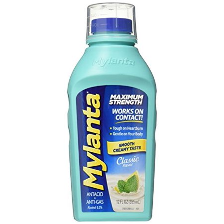 Mylanta Maximum Strength Liquid Antacid + Anti-Gas, Classic Flavor, 12 - Gas Liquid
