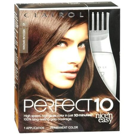Clairol Nice N Easy Perfect 10 5 Medium Brown Hair Color  Walmart.com