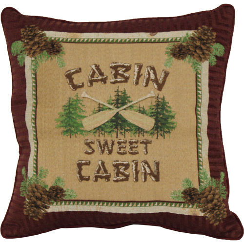 Cabin Sweet Cabin Decorative Pillow
