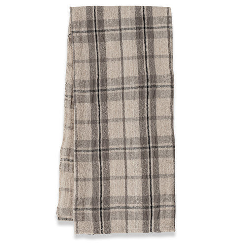 Couleur Nature Khadhi Plaid Tea Towel (Set of 2)