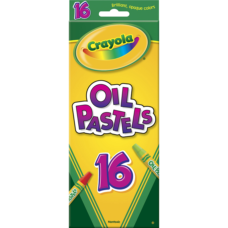 Crayola 16ct Colored Oil Pastel Sticks Multi-Colored