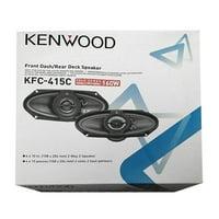 Kenwood KFC-415C 4x10-Inch 160W Two-way Custom-fit Car Audio Speakers, Pack of 2