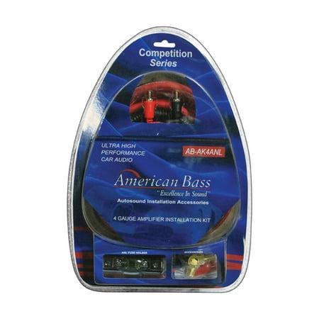 Car Stereo Amp Kit, 4 Gauge Wiring Audio Installation Amplifier Wire Kit (Car Stereo Amp Wire Kit)