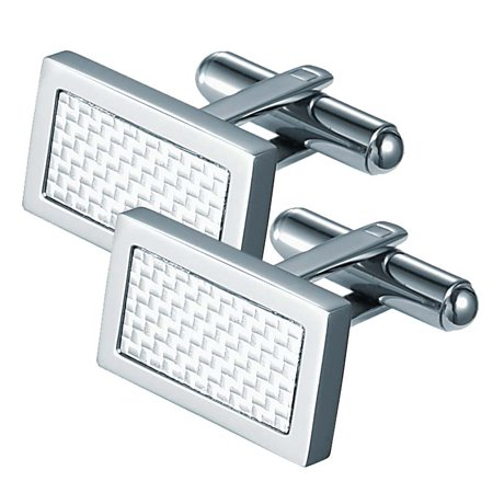 Visol Malcom Rectangular Stainless Steel Cufflinks