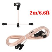 TSV Indoor FM Antenna 75 Ohm F Type Male Plug Connector Coax Coaxial Cable Wire for Table Top Home Stereo Receiver Radio Receiver Antenna